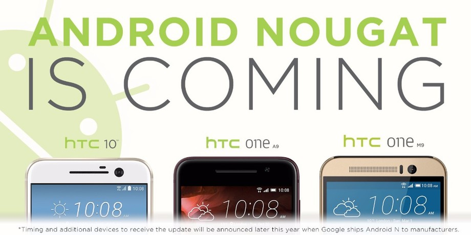 htc android 7 nougat update