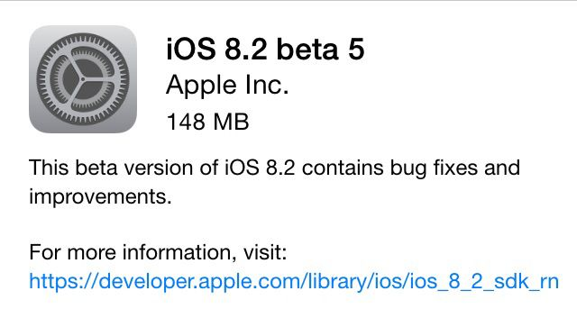 Apple iOS 8.2 Beta 5