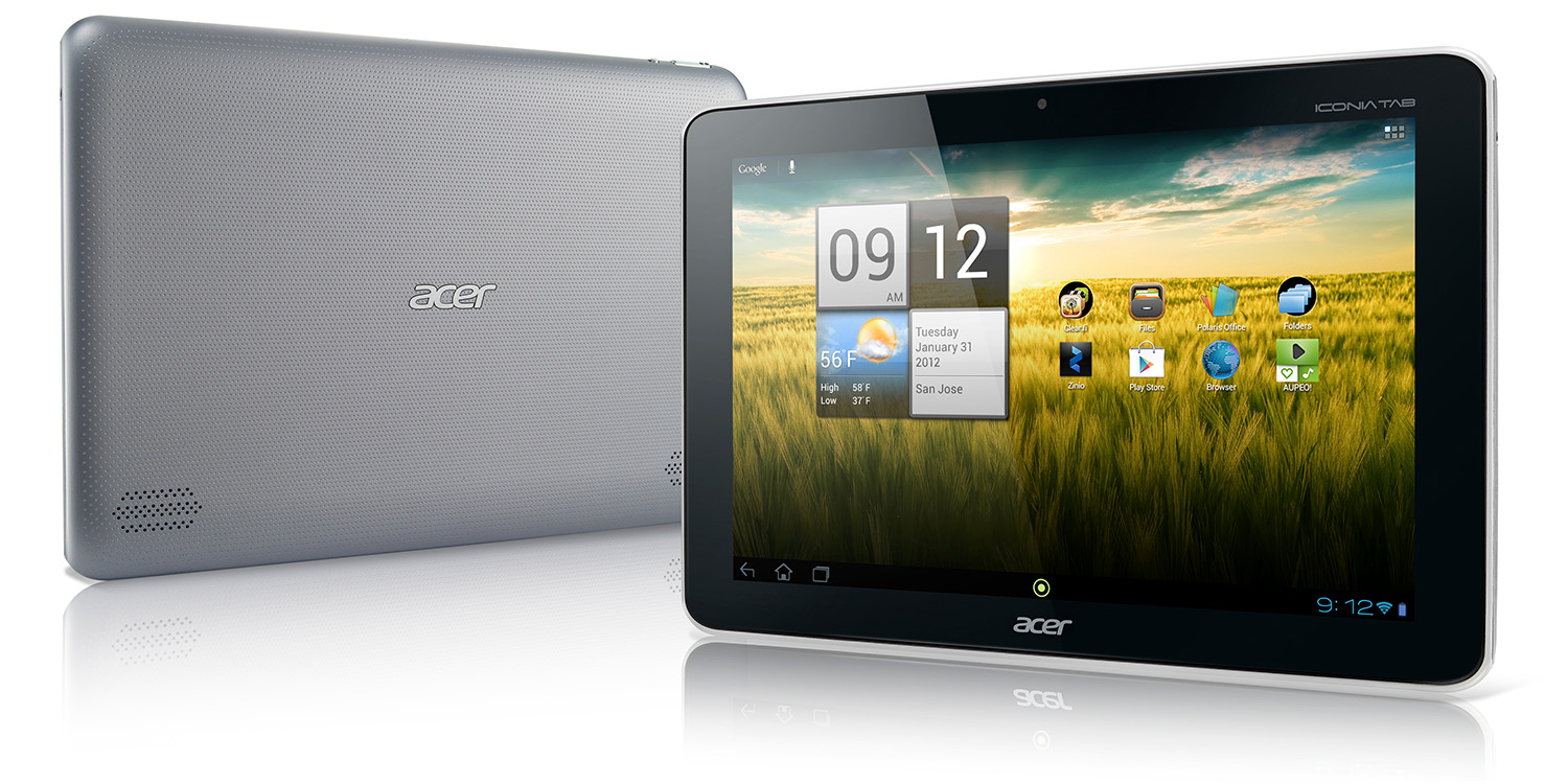 Acer Iconia Tab A210 vorne hinten
