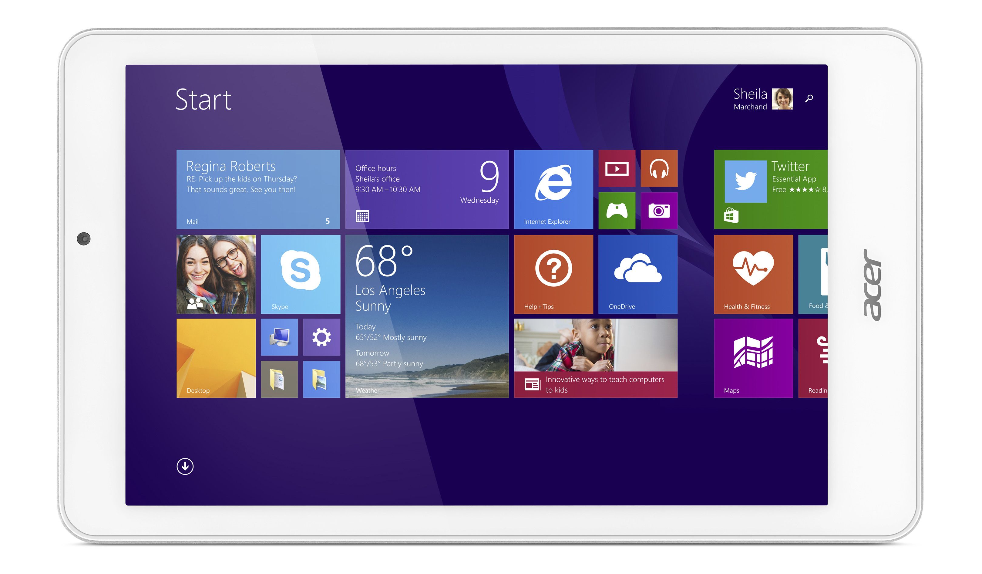 Acer Tablet Iconia Tab 8 W W1 810 Win 8.1