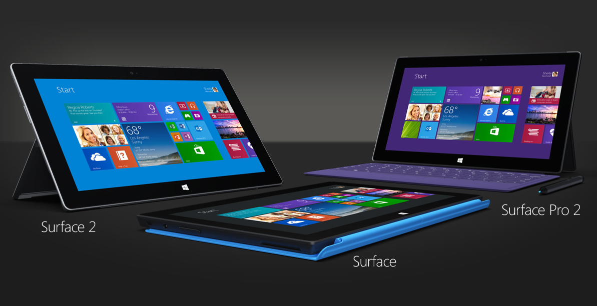 Surface 2 Pro Surface 2 RT Surface Pro Surface RT