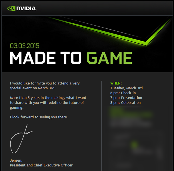 Nvidia March 3 Gaming Announcement