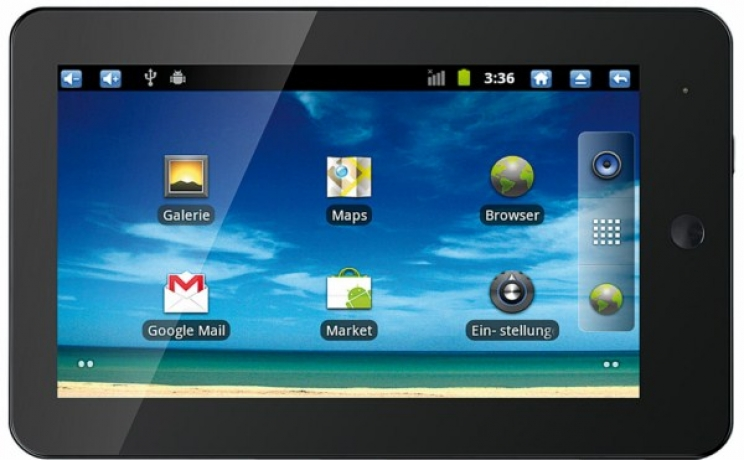 Günstiges 1Ghz Android 2.3 Tablet Touchlet X3 & X4 inkl. HDMI Out